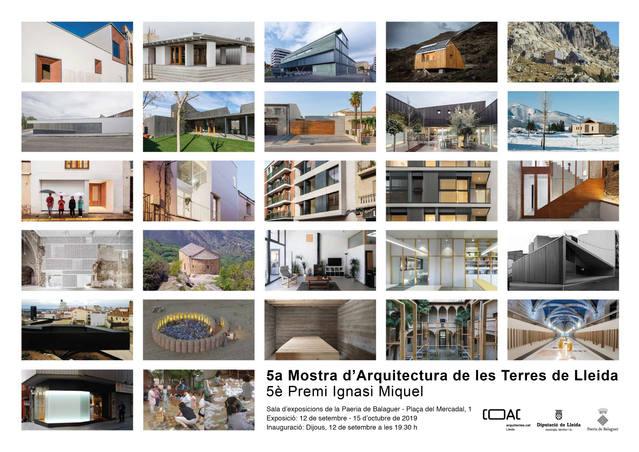 L'exposició de la 5a Mostra d'Arquitectura de les Terres de Lleida arriba a Balaguer