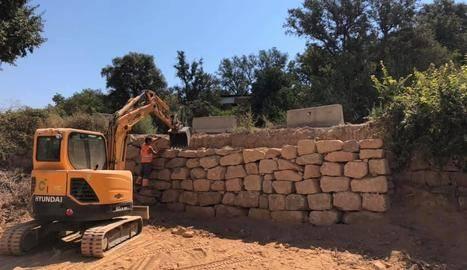 Montgai ultima la millora de l'accés al pavelló municipal