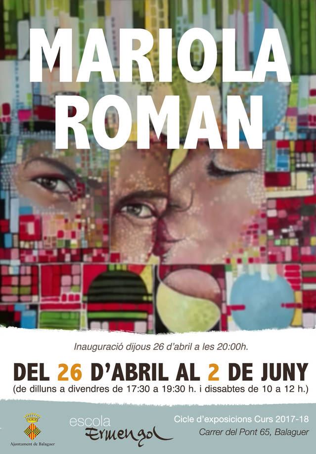 Nova exposició de Mariola Roman a l'Escola Ermengol