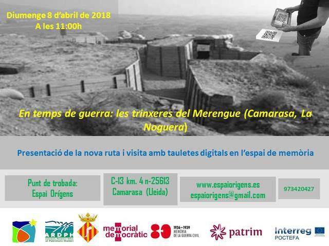 Nova ruta a l'espai de memòria del Merengue amb tauletes digitals