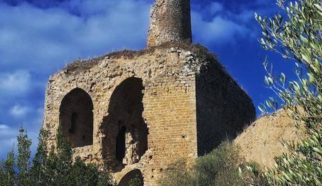Obres per frenar la degradació del castell d'Alòs de Balaguer