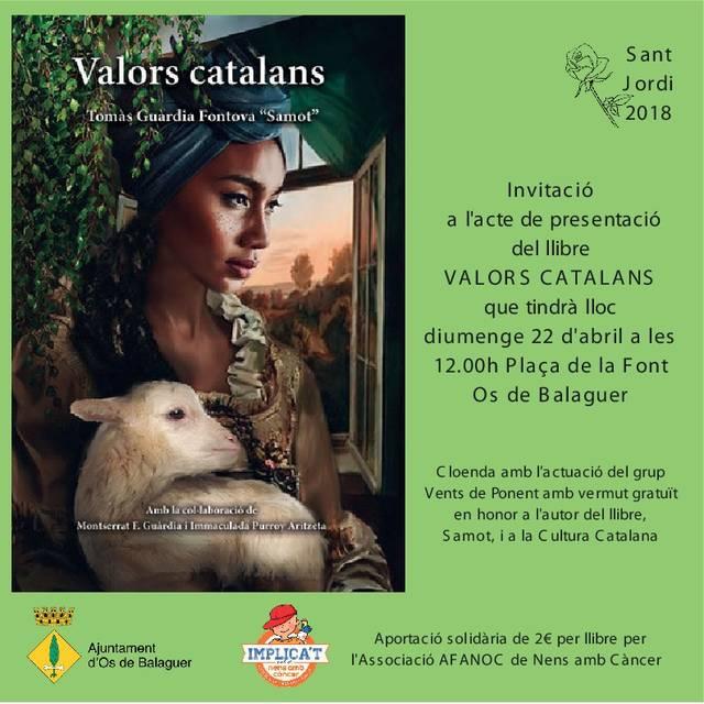 """Os de Balaguer recupera el llibre """"Valors Catalans"""" en homenatge al savi pastor """"Samot"""" veí d'aquesta vila de la Noguera"""