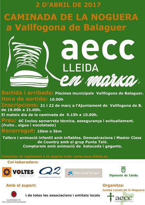 Primera Caminada de la Noguera en favor de l'AECC