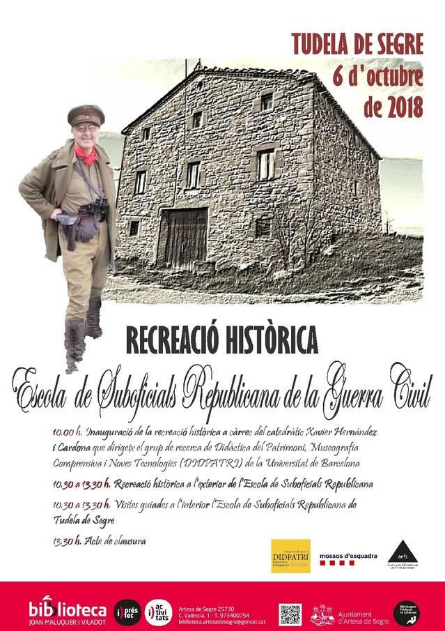 Recreacióhistòrica al'exterior de l'Escola de Suboficials de Tudela de Segre