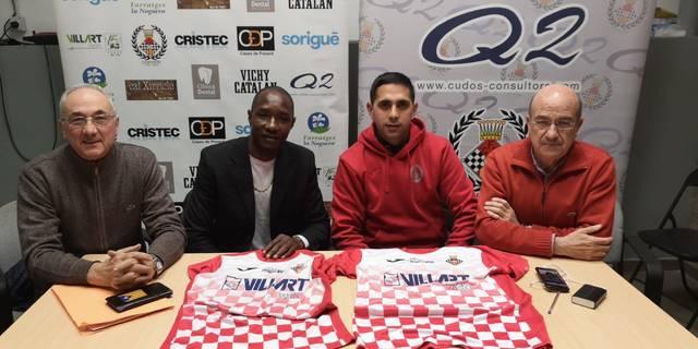 Sebas Rodrigo i Barry Baillo, nous jugadors del CF Balaguer