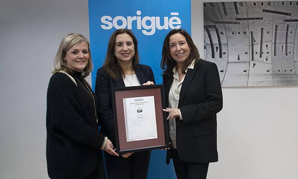 Sorigué, primera constructora catalana en obtenir les certificacions en Compliance Penal i Responsabilitat Social d'AENOR