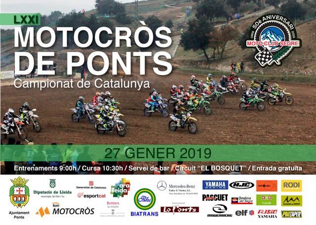 Tret de sortida al Campionat de Catalunya de motocròs 2019 al circuit El Bosquet
