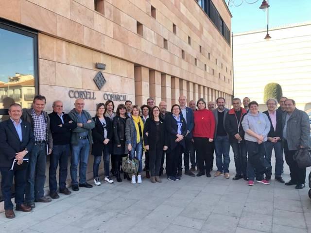 Trobada de Rosa Maria Perelló amb els dirigents municipals de la Noguera