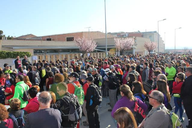 600 persones a la Caminada Popular d'Aitona