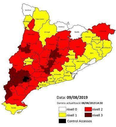 Agricultura alerta de l'alt risc d'incendi