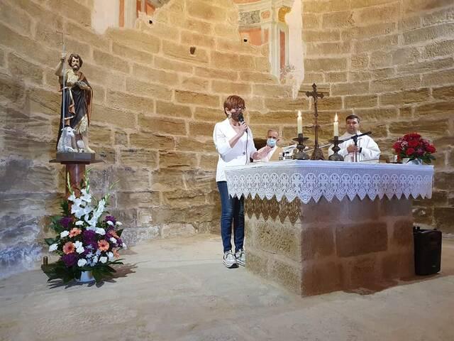 Aitona beneeix la nova imatge de Sant Joan de Carratalà