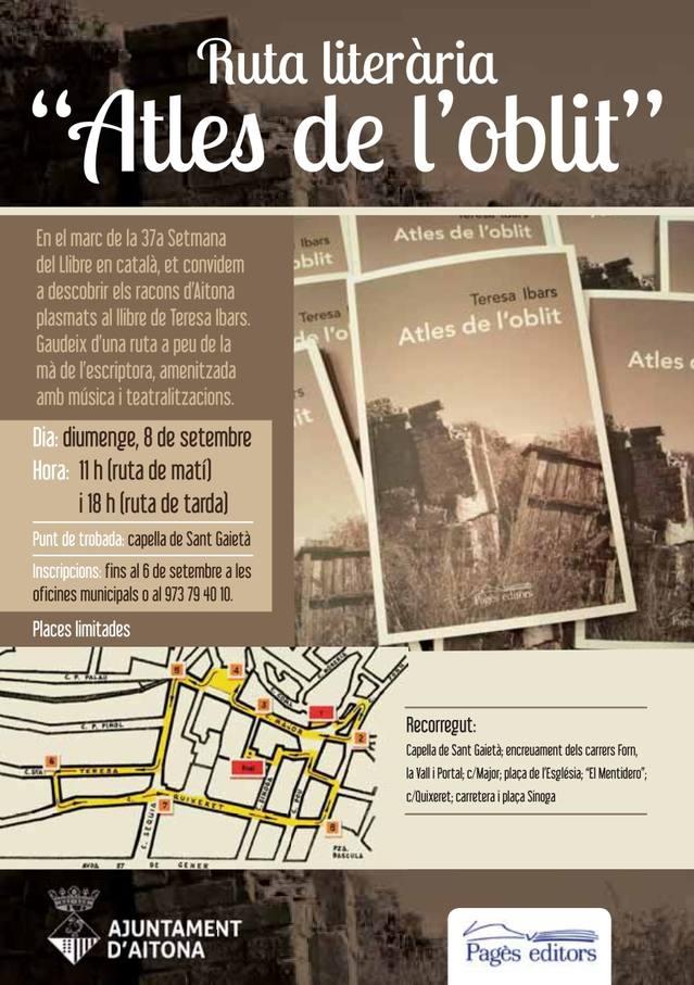 Aitona se suma a la Setmana del Llibre en català amb una ruta literària