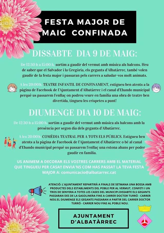 Albatàrrec celebra la seva primera Festa Major confinada
