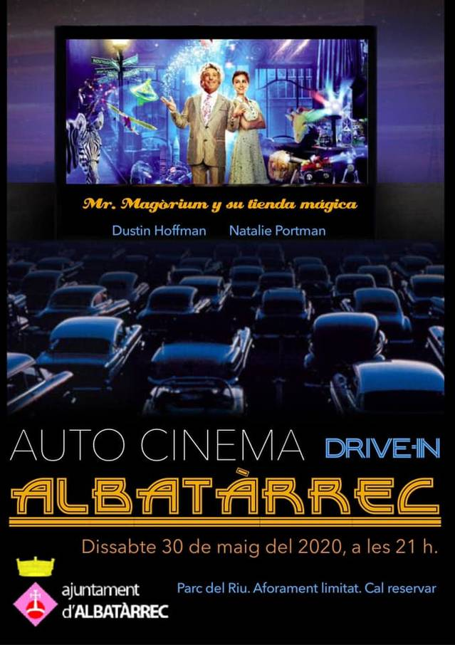 Albatàrrec, pioner a Catalunya en oferir una sessió de cinema amb els espectadors tancats als cotxes davant la pandèmia del Covid-19