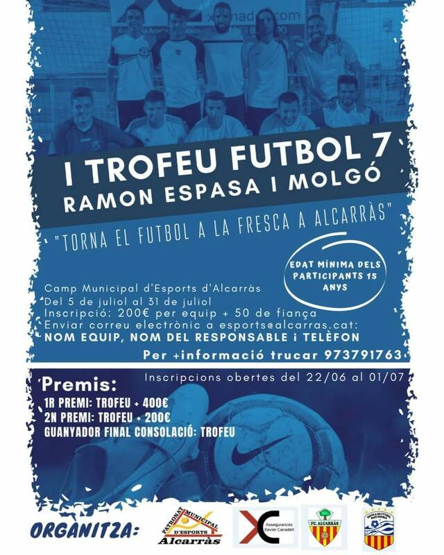 Alcarràs dedica un Trofeu de Futbol 7 a Ramon Espasa i Molgó