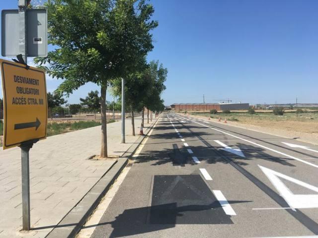 Alcarràs obre una ruta alternativa per facilitar la circulació arran de les obres de la nova rotonda