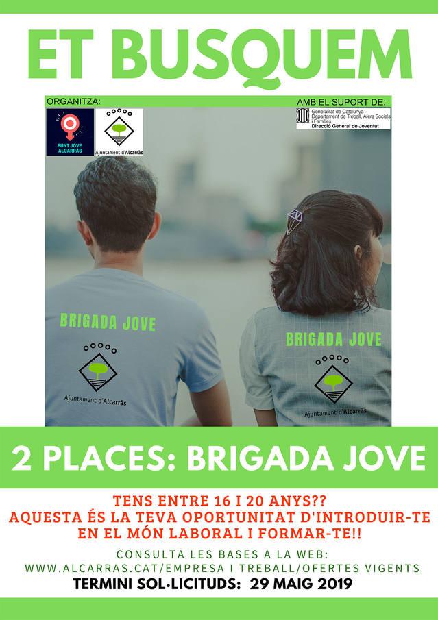 Alcarràs selecciona dos joves per a la tercera edició del Projecte Brigada Jove