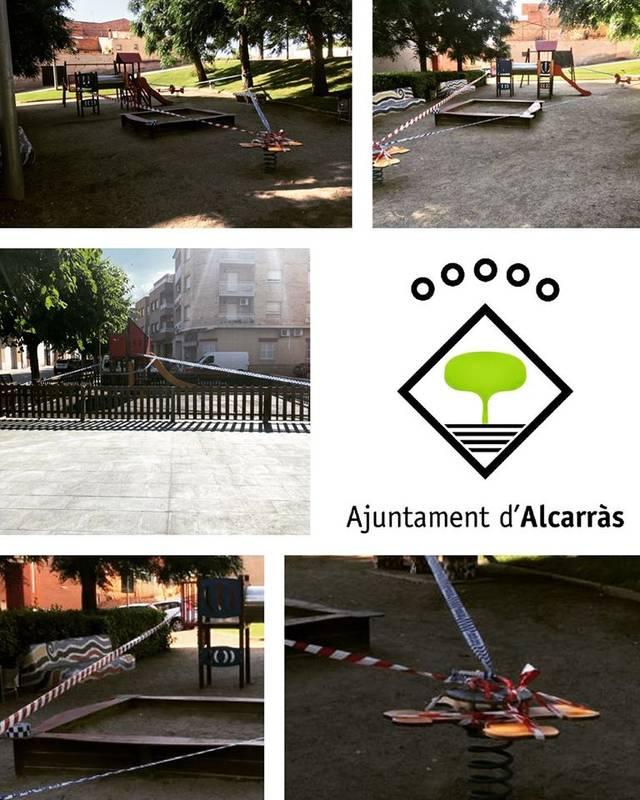 Alcarràs torna a tancar els parcs infantils per l'augment de casos de Covid-19 a Lleida