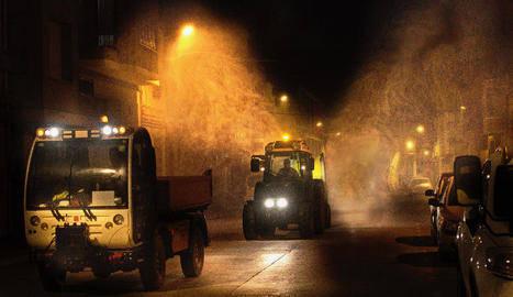 Alcoletge agraeix als pagesos la desinfecció diaria del poble