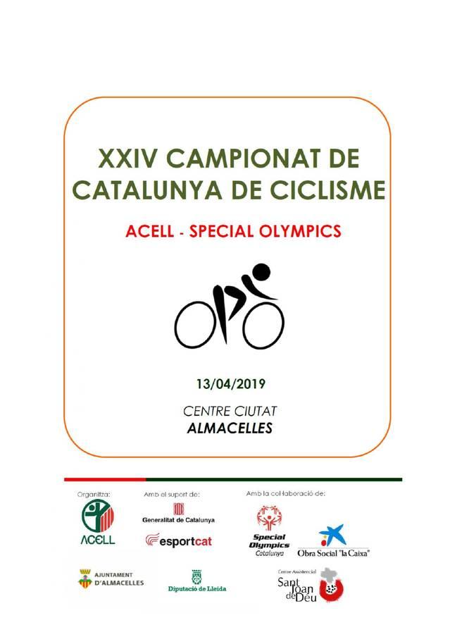 Almacelles celebra el XXIV Campionat de Catalunya de Ciclisme ACELL-SPECIAL OLYMPICS