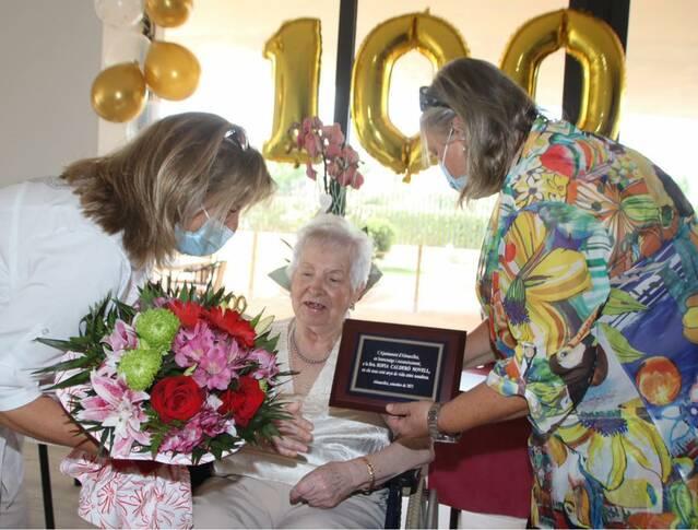 Almacelles homenatja Sofia Calderó Novell pel seu 100 aniversari