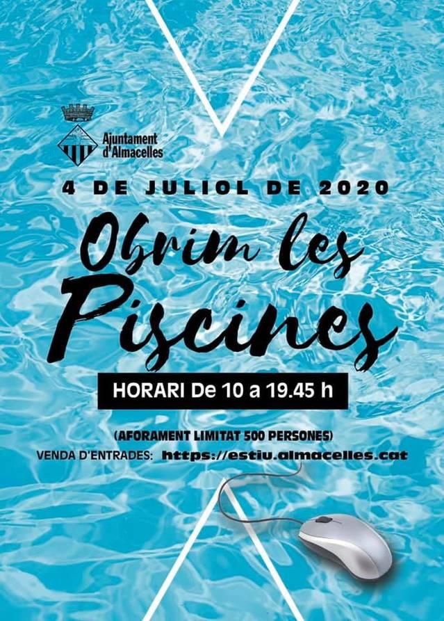 Almacelles obrirà les piscines municipals el proper dissabte, 4 de juliol