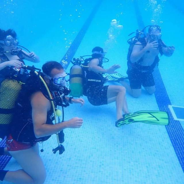 Almenar acull sessions d'iniciació al submarinisme