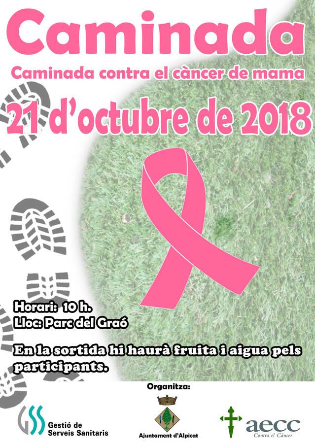 Alpicat caminarà contra el càncer de mama el diumenge 21