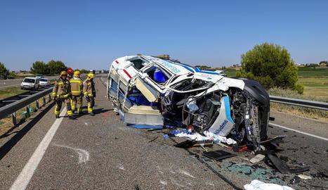 Aparatós accident a l'autovia