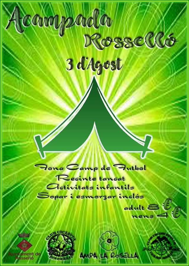 Aquest cap de setmana, 1a Acampada Rosselló al Camp de Futbol municipal
