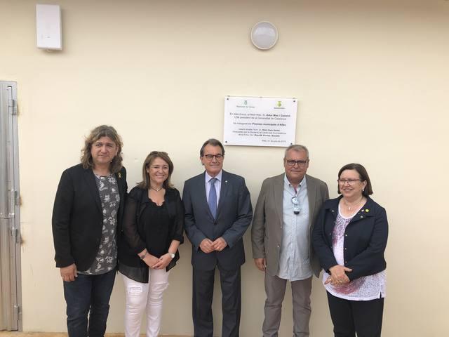 Artur Mas, present en la inauguració de les reformes a les piscines d'Alfés