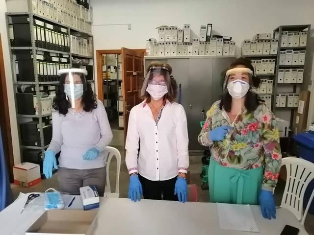 Avui, últim dia de repartiment de mascaretes a l'Ajuntament d'Alguaire