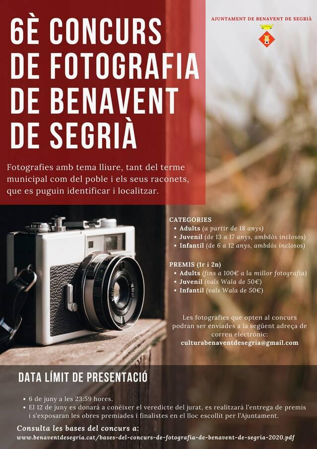 Benavent de Segrià convoca el seu 6è Concurs de Fotografia