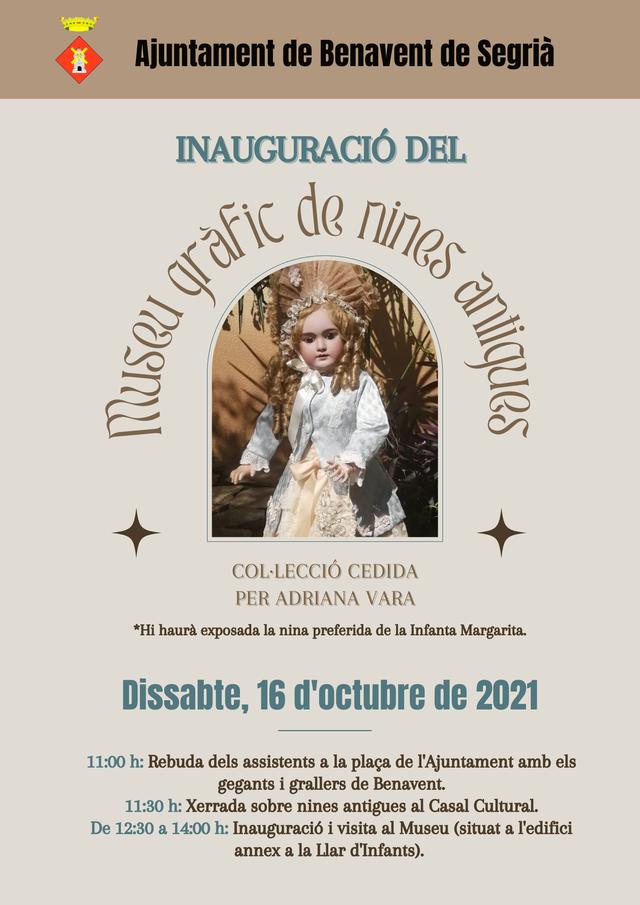 Benavent de Segrià inaugura aquest dissabte el Museu Gràfic de Nines Antigues a partir de la col·lecció d'una veïna