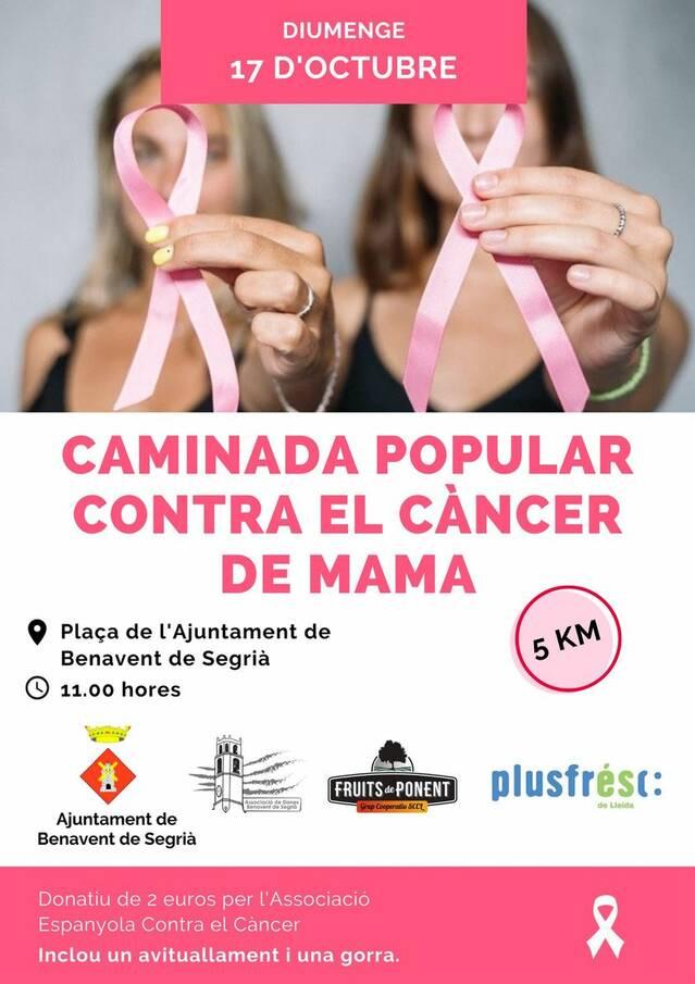 Caminada a Benavent de Segrià contra el càncer de mama