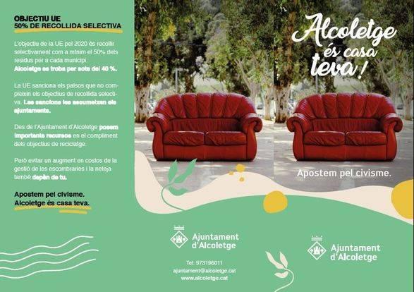 Campanya a Alcoletge contra l'incivisme amb l'abocament de residus