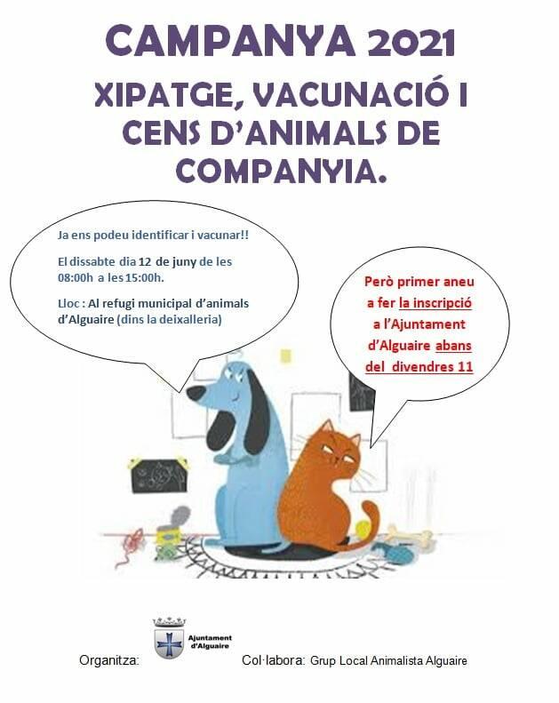 Campanya de vacunació, xipatge i cens d'animals de companyia a Alguaire
