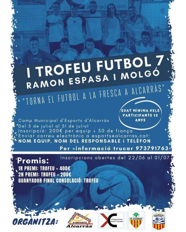 Comença a Alcarràs la primera edició del Trofeu de Futbol 7 Ramon Espasa i Molgó