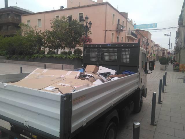 Comença la recollida porta a porta d'una trentena de comerços a Almacelles
