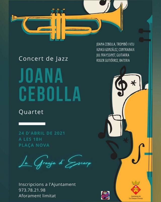 Concert de jazz de l'artista Joana Cebolla aquest dissabte a La Granja d'Escarp