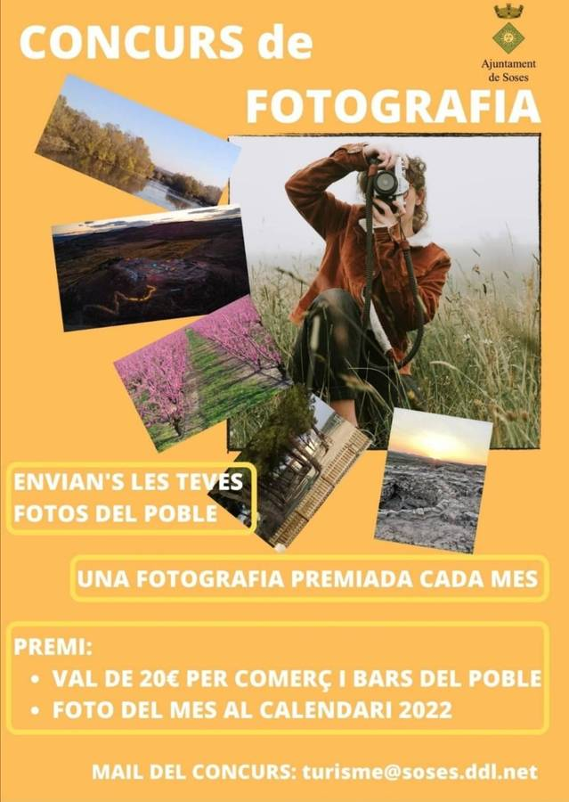 Concurs de fotografia a Soses, amb premis per comprar a les botigues del poble
