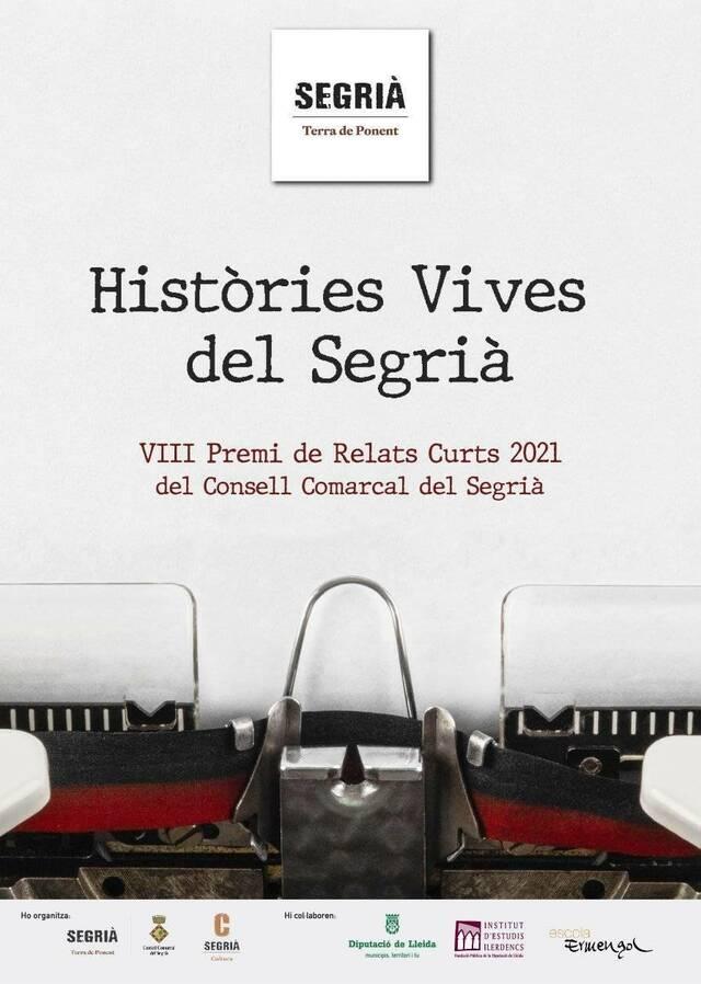 Convocat el VIII Premi de Relats Curts 'Històries Vives del Segrià'