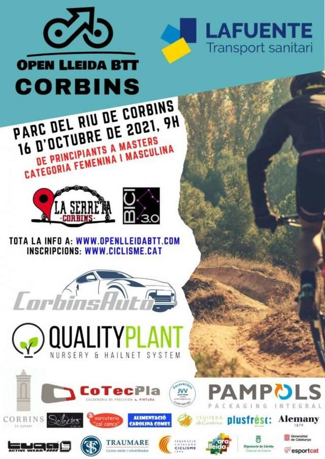 Corbins proclamarà els campions/es de l'Open Lleida BTT - Lafuente Ambulàncies 2021