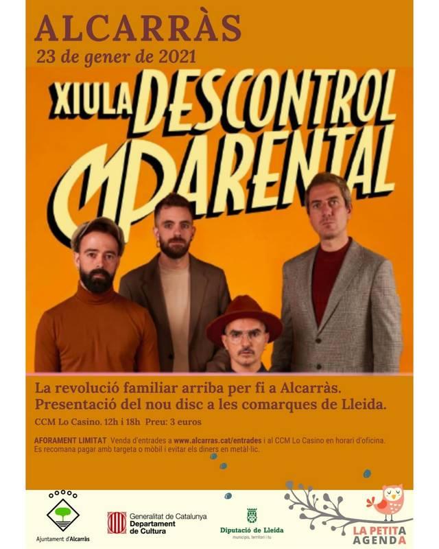 'Descontrol Parental', aquest dissabte a Lo Casino d'Alcarràs