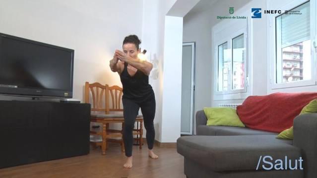 Diputació de Lleida, INEFC-Lleida i Salut faciliten exercicis per fer a casa durant el confinament