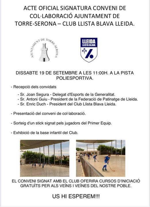 El Club Llista Blava de Lleida entrenarà al poliesportiu de Torre-serona
