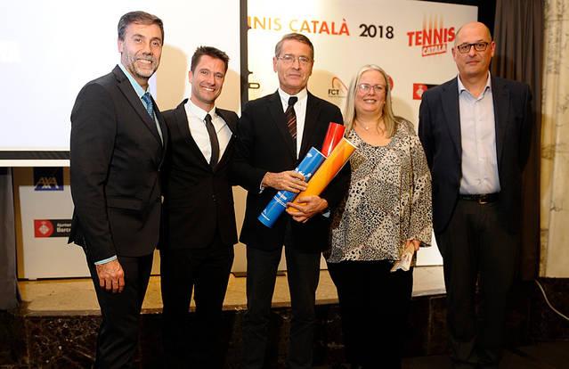 El CT Lleida rep tres distincions a la Diada del Tennis Català