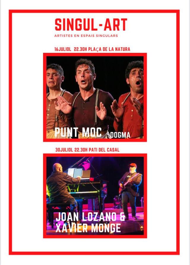 El festival Singul-Art porta una doble proposta a Alpicat amb Puntmoc i Joan Lozano&Xavier Monge