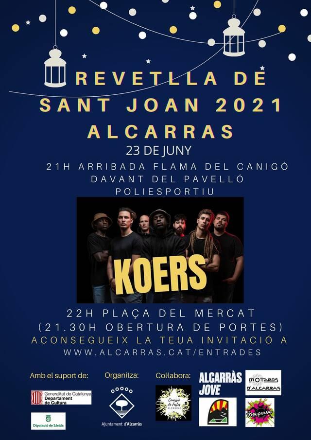El grup lleidatà de reggae Koers protagonitzarà enguany la Nit de Sant Joan a Alcarràs