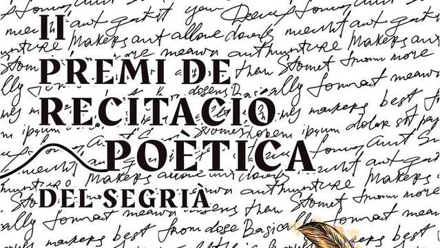 El II Premi de Recitació Poètica del Segrià tindrà 13 participants